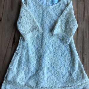 Just Couture Dresses - Just Couture. Cream long sleeved lace dress. 3T